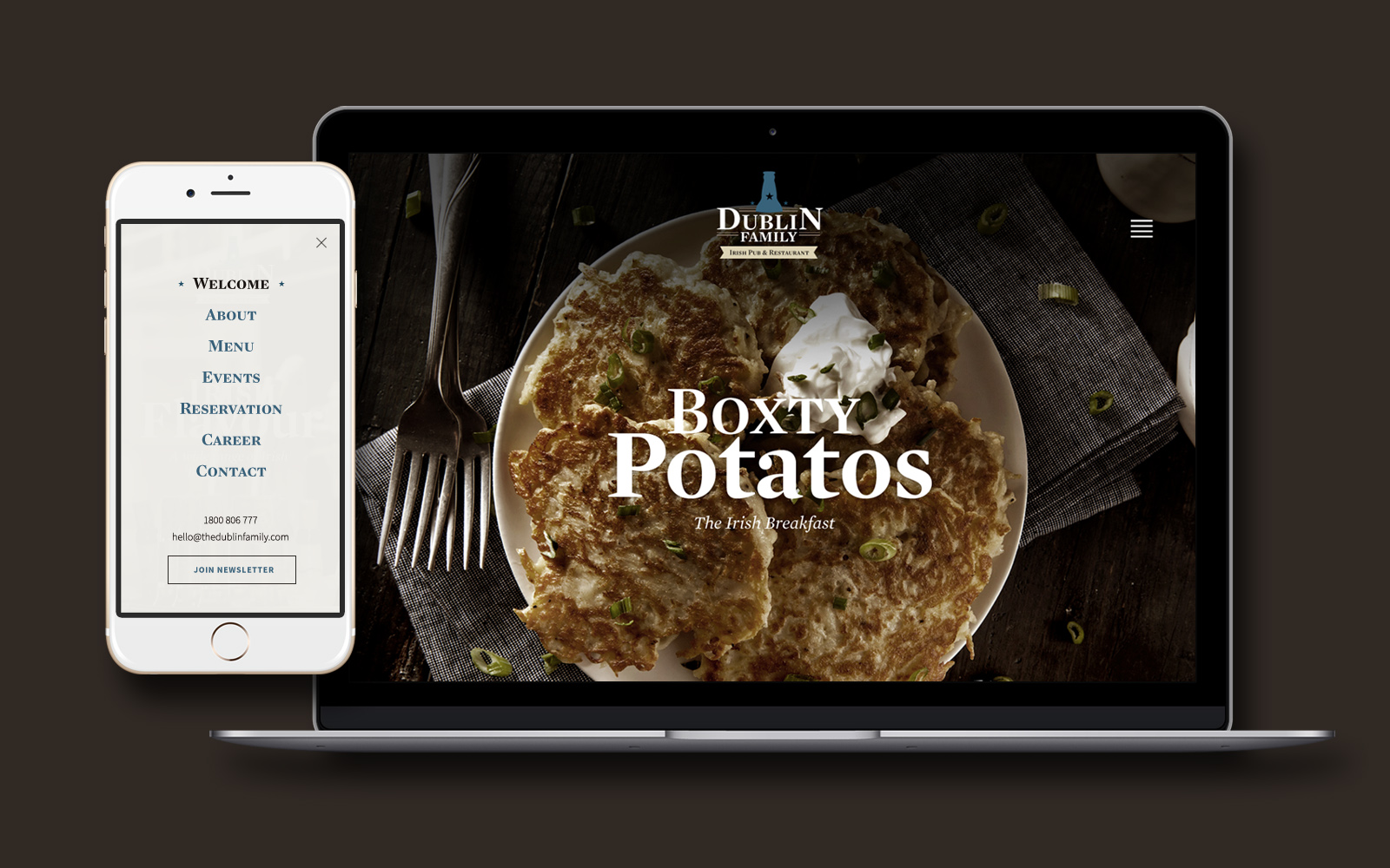 Dublin Family App Design